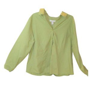 CHICO'S ~ Green Fitted Button Down